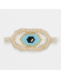 Fashion Blue Bead Braided Eye Accessories