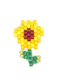 Fashion Yellow Flowers Bead Woven Fruit Plant Flower Series Accessories