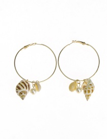 Fashion Golden Alloy Shell Conch Earrings