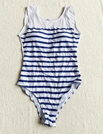 Fashion White Striped One-piece Swimsuit