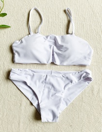 Fashion White Split Swimsuit