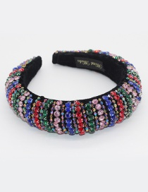 Fashion Color Heavy Industry Sponge Inlaid With Colorful Rhinestones