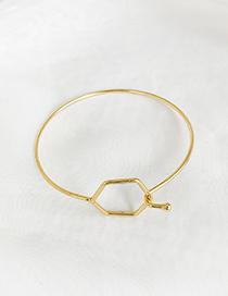 Fashion Diamond Alloy Geometric Bracelet