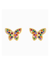 Fashion Butterfly Butterfly Studded Alloy Stud Earrings