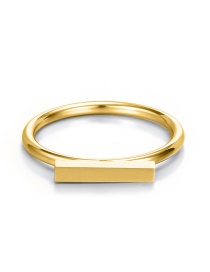 Fashion Golden Stainless Steel Geometric Word Ring