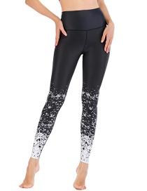 Fashion Black [pants Only] Geometric Print Contrast Color Yoga Sports Fitness Pants