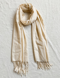Fashion Yellow Knitted Tassel Scarf