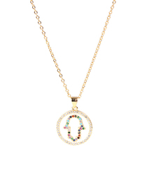 Fashion White Round Palm Necklace With Drops Of Oil And Diamonds
