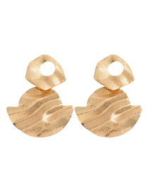 Fashion Golden Geometric Frosted Alloy Earrings