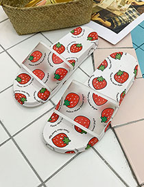 Fashion Strawberry With White Fruit Fruit Sandals
