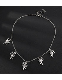 Fashion Silver Little Angel Alloy Pendant Necklace