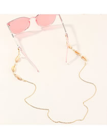 Fashion Golden Handmade Accessories Imitation Pearl Natural Shell Glasses Chain