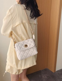 Fashion White Diamond Chain Single Shoulder Bag Satchel