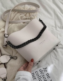 Fashion White Letter Hot Stamping Chain Single Shoulder Bag