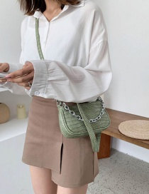 Fashion Green Tea Stone Chain Chain Shoulder Bag