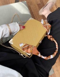 Fashion Yellow Scarf Chain Handbag Shoulder Bag