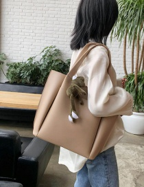 Fashion Khaki Splicing Single Shoulder Bag