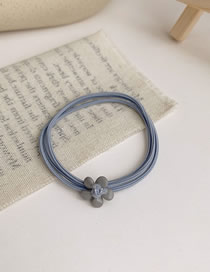Fashion Blue Small Flower Multi Layer Rubber Band