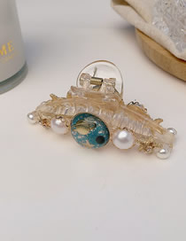 Fashion Blue Star Pearl Sea Star Large Catch Clip