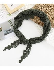 Fashion Blackish Green Lace Scarf Scarf Scarf
