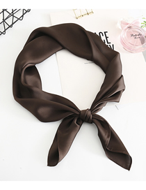 Fashion Coffee Multifunctional Use Of Silk Scarf And Shawl