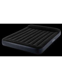 Fashion Black Black And White Built-in Pillow Single Layer Double Line Pull Air Mattress