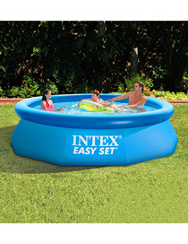 Fashion Blue 0dish Inflatable Round Family Swimming Pool 244 * 76cm