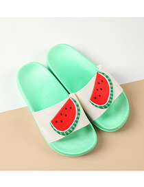Fashion Watermelon Fruit Animal Hit Color Non-slip Soft Bottom Word Children Slippers