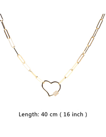 Fashion 40cm Diamond Necklace With Love Buckle