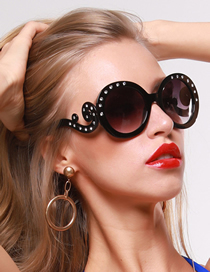 Fashion Black Oval Diamond Xiangxiang Women S Sunglasses