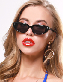 Fashion Bright Black Small Frame Sunglasses