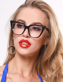 Fashion Black Cat S Eye Shape Glasses Frame Anti-blue Light Glasses