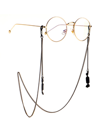 Fashion Black Hanging Neck Candy Pendant Glasses Chain