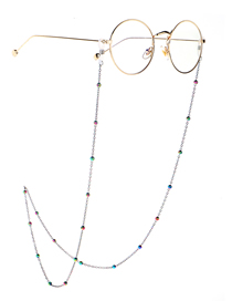 Fashion Color Multicolored Beads Sunglasses Chain