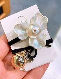Fashion Flower Band Pearl Shell Flower Metal Ball Hair Rope