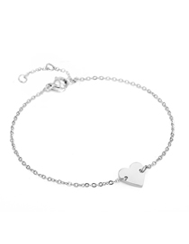 Fashion Steel Color Love Chain Adjustable Bracelet