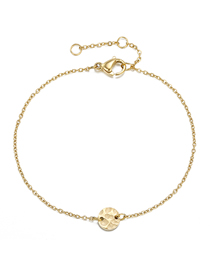 Fashion 14k Gold Irregular Uneven Chain Adjustable Bracelet