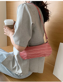 Fashion Pink Large Crocodile Shoulder Bag