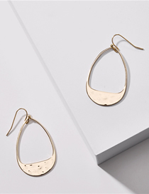 Fashion Gold Brass Geometric Thump Drop Earrings