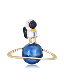 Fashion Planet Planet Alloy Oil Drop Brooch