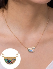 Fashion Semicircular Semicircular Color Natural Abalone Shell Alloy Necklace