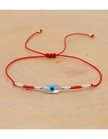 Fashion Rhombus Eyes Red Rice Beads Hand-woven Earth Eye Bracelet