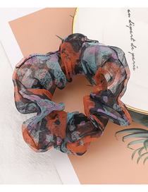 Fashion Orange Eugen Yarn Floral Bowel Hair Rope