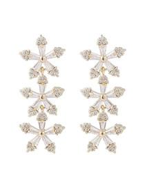 Micro-set Aretes De Perlas Rosa De Circón