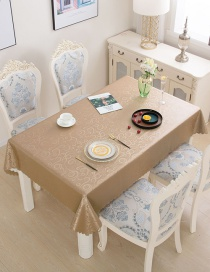 Fashion Phoenix Champagne Gold Pu Waterproof And Oil-free Disposable Hotel Square Tablecloth