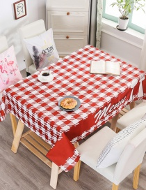 Fashion Dining Grid (without The Same Chair Cover) (120 * 160cm Without Chair Cover) Printed Dustproof And Waterproof Household Tablecloth