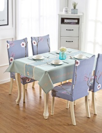 Fashion Winter Flower (140 * 210cm Without Chair Cover) Printed Dustproof And Waterproof Household Tablecloth
