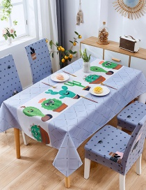 Fashion Fairy Ball Blue (140 * 210cm Without Chair Cover) Printed Dustproof And Waterproof Household Tablecloth