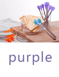 Fashion Purple Silicone Stainless Steel Anti-skid Ice Clip
