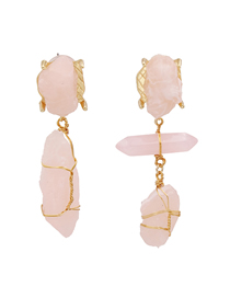 Fashion Pink Asymmetric Geometric Acrylic Resin Alloy Earrings